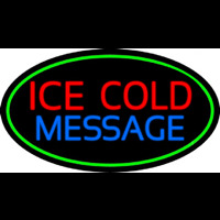 Custom Ice Cold Cold Drinks Neon Sign