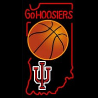 Custom Indiana Hoosiers Basket Ball Neon Sign Neon Sign