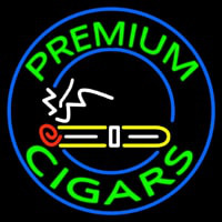 Custom Premium Cigars 1 Neon Sign