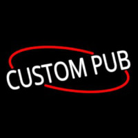 Custom Pub With Red Line Neon Sign
