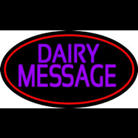 Custom Purple Dairy Neon Sign