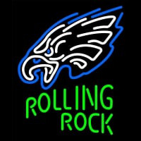 Custom Rolling Rock Philadelphia Eagles Neon Sign Neon Sign