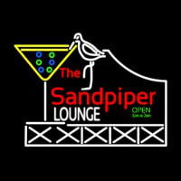 Custom Sandpiper Lounge Logo Neon Sign