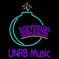 Custom UNRB Music Logo Neon Sign