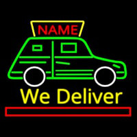 Custom We Deliver Van Neon Sign