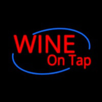 Custom Wine On Tap Oval Neon Sign