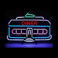 DINER CAR 1950 Classic Retro Restaurant Neon Sign