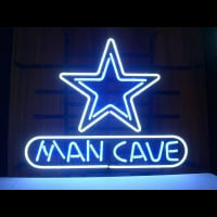 Dallas Cowboys Mancave Beer Bar Pub Gameroom Neon Sign Neon Sign