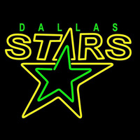 Dallas Stars Primary 1993 94 Logo NHL Neon Sign Neon Sign