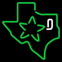Dallas Stars Secondary Logo Nhl Neon Sign Neon Sign