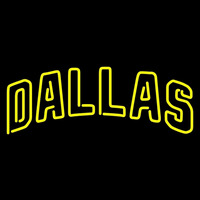 Dallas Stars Wordmark Logo Nhl Neon Sign Neon Sign