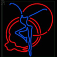 Dance Girl Logo Neon Sign
