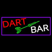 Dart Bar With Purple Border Neon Sign