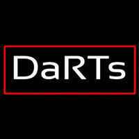 Darts With Red Border Neon Sign