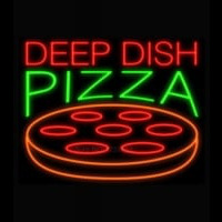 Deep Dish Pizza Neon Sign