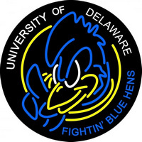 Delaware Blue Hens Primary 1993 2008 Logo NCAA Neon Sign Neon Sign