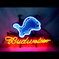 Detroit Lions Football Budweiser Neon Light Sign Neon Sign