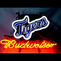 Detroit Tigers Baseball Budweiser Beer Neon Light Sign Neon Sign