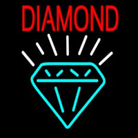Diamond With Logo Neon Sign