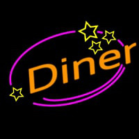 Diner With Star Neon Sign