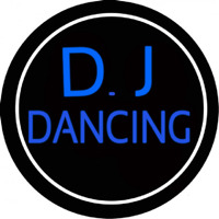Dj Dancing Circle Neon Sign