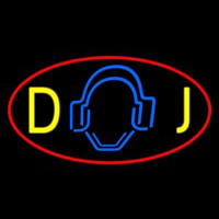 Dj Logo 5 Neon Sign