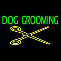 Dog Grooming With Cache Neon Sign