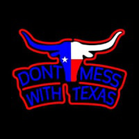 Dont Mess with Te as Longhorn Two Color Neon Sign