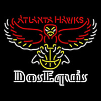 Dos Equis Atlanta Hawks NBA Beer Sign Neon Sign