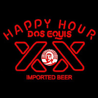 Dos Equis Beer Happy Hour Beer Sign Neon Sign