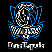 Dos Equis Dallas Mavericks NBA Beer Sign Neon Sign