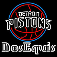 Dos Equis Detroit Pistons NBA Beer Sign Neon Sign