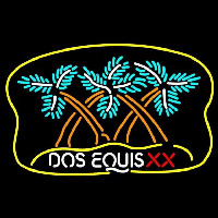 Dos Equis X  Plam Tree Beer Sign Neon Sign