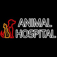 Double Stroke Animal Hospital Neon Sign