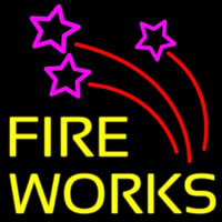 Double Stroke Fire Works 2 Neon Sign