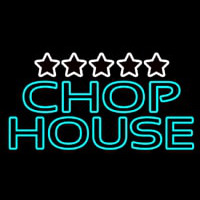 Double Stroke Green Chophouse Neon Sign
