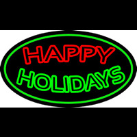 Double Stroke Happy Holidays Neon Sign