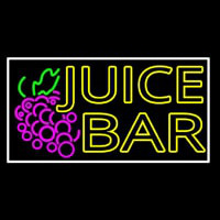Double Stroke Juice Bar With Grapes Neon Sign