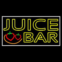 Double Stroke Juice Bar With Strawberries Neon Sign