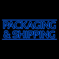 Double Stroke Packaging And Shipping Neon Sign