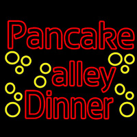 Double Stroke Pancake Alley Dinner Neon Sign