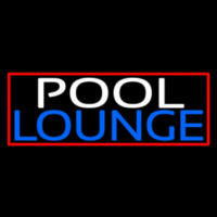 Double Stroke Pool Lounge With Red Border Neon Sign
