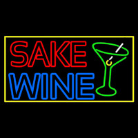 Double Stroke Sake Wine With Glass 1 Neon Sign
