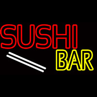 Double Stroke Sushi Bar  Neon Sign