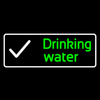 Drinking Water Neon Sign