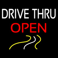 Drive Thru Red Open Neon Sign