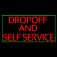 Drop Off And Self Service Neon Sign