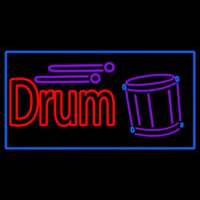 Drum With Musical  Neon Sign