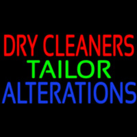 Dry Cleaners Tailor Alterations Neon Sign