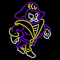 East Carolina Pirates Mascot 1999 Pres Logo NCAA Neon Sign Neon Sign